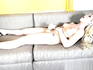 nasty cute blond Showing Ass And cum Likcing