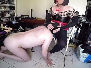 Slave sucking he shemale mistress