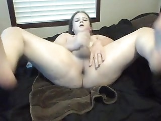 Hung Goth Transgirl Ass Bouncing While Fucking A Fake Pussy