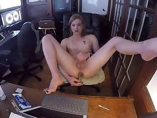 Amazing Homemade Shemale movie with Solo, Dildos/Toys scenes