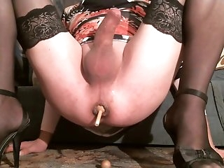 Best Homemade Shemale clip with Dildos/Toys, Solo scenes